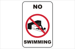 No swimming in drains
