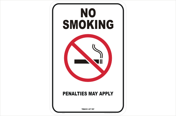 VIC No smoking penalties may apply