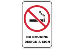 Design your own No Smoking sign