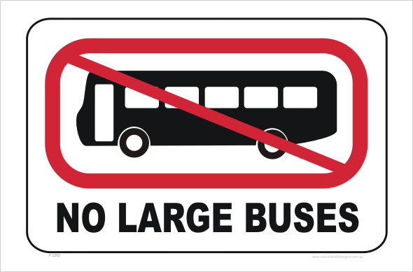 No Large Buses