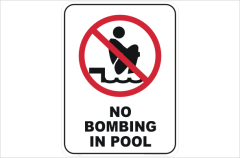 no bombing in pool
