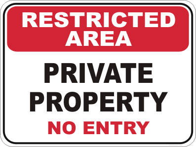 private property signs restricted area signs buy online