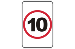 Speed Limit 10 KPH