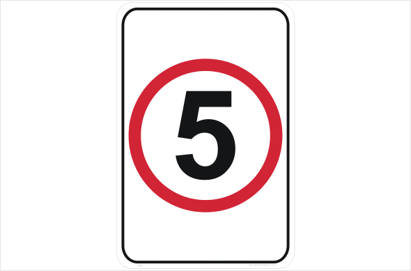 Speed Limit 5 KPH sign