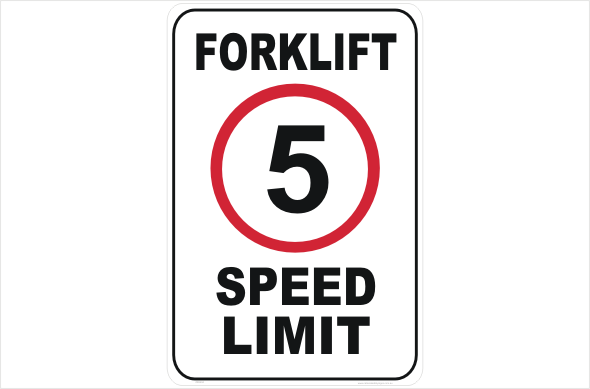 Forklift speed limit 5kph