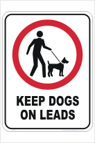 Dogs on Lead sign