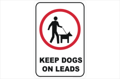 Dogs on Lead Signs