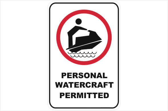 Jet Skis Allowed, personal watercraft permitted