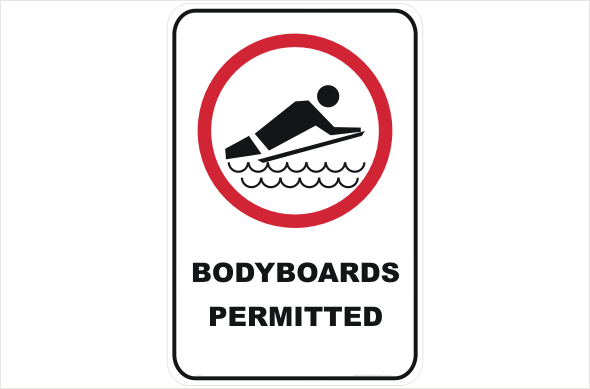 bodyboards permitted