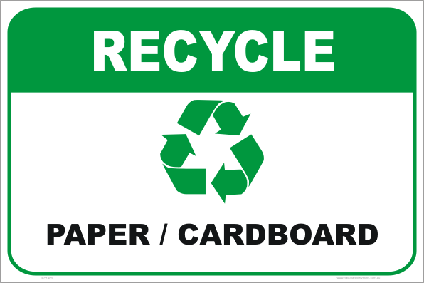 recycle, recycle paper sign, recycle cardboard sign