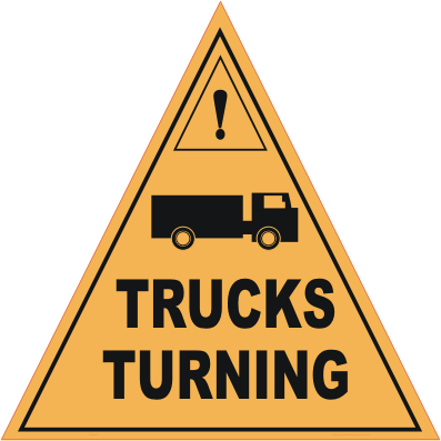 trucks turning sign