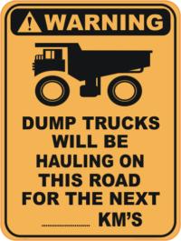 Dump Trucks sign