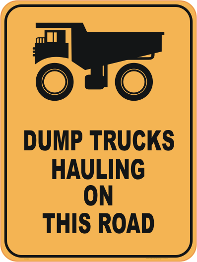 Haul Trucks sign