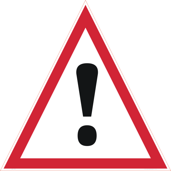 danger triangle sign