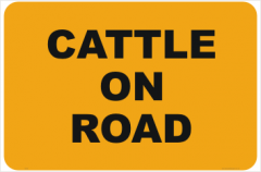 Cattle on Road sign