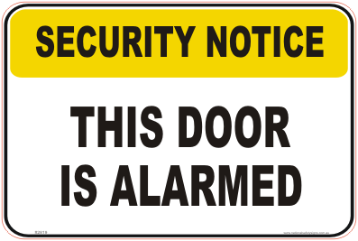 Alarmed Door Sign