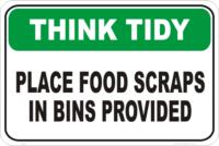 put scraps in bin
