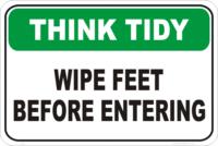 wipe feet