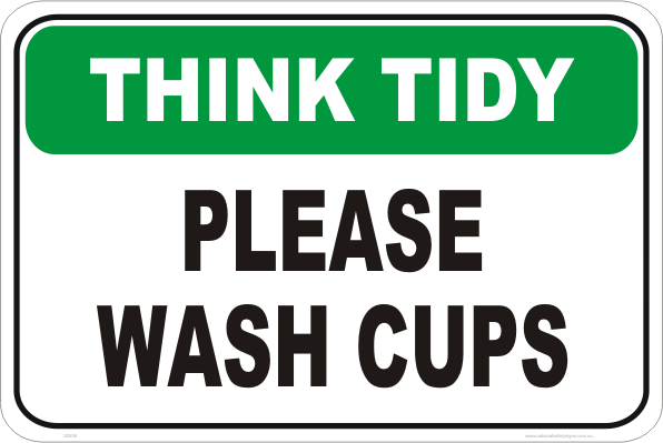 wash cups