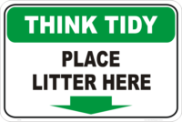 litter here signs