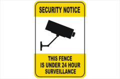 Security CCTV fence under 24hr surveillance