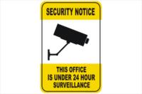 Security CCTV office under 24hr surveillance