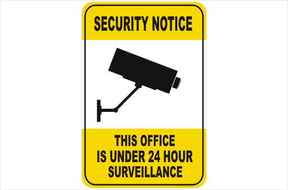 Security CCTV office under 24hr surveillance