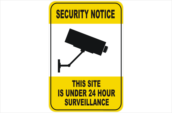 Site Security CCTV Camera sign