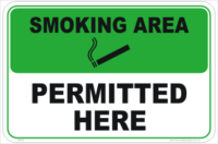 Smoking Permitted Here sign