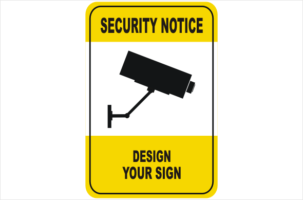 Create your own Security Camera Sign