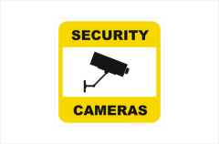 Security CCTV Camera small sign