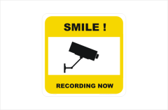 Security CCTV smile recording now