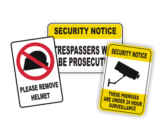 Security Signs - Trespass Signs