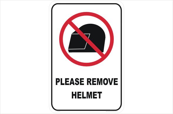 remove helmet