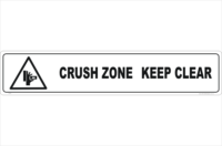 Crush Zone Keep Clear sign