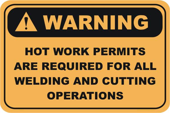 Hot Work Permit sign