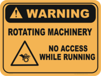 rotating machinery sign