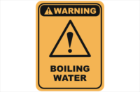 hot water, boiling water