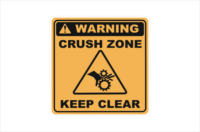 Crush Zone Keep Hand Clear