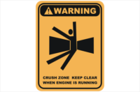 crush zone, keep clear