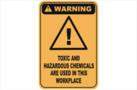 Toxic Chemicals warning sign