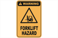 Forklift Hazard warning sign