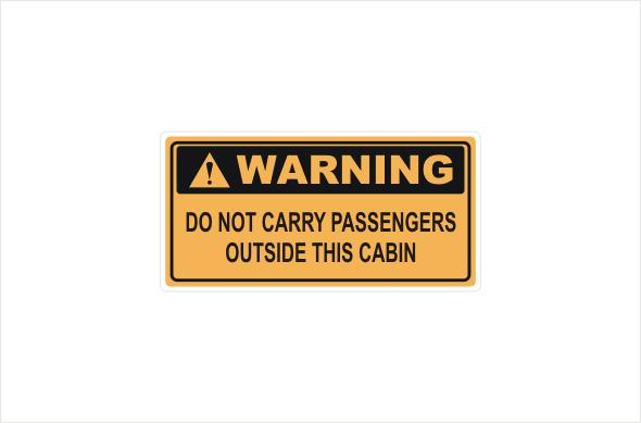 Do Not Carry Passengers