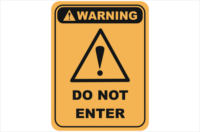 do not enter, keep out