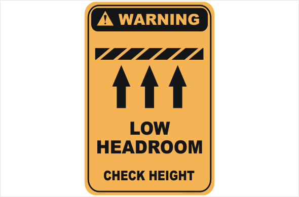 Low Headroom warning sign