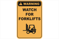 Forklift sign Gold Coast