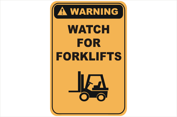 Watch for Forklifts sign Budget 10 Pack