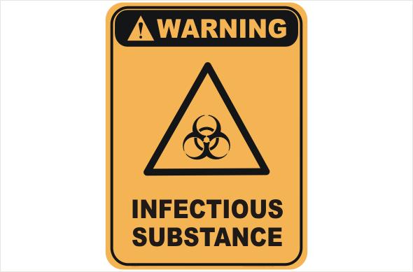 hazchem sign, biological sign, infectious sign