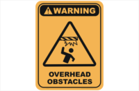 Overhead Obstacles warning sign