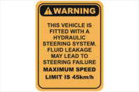 hydraulic leakage warning sign